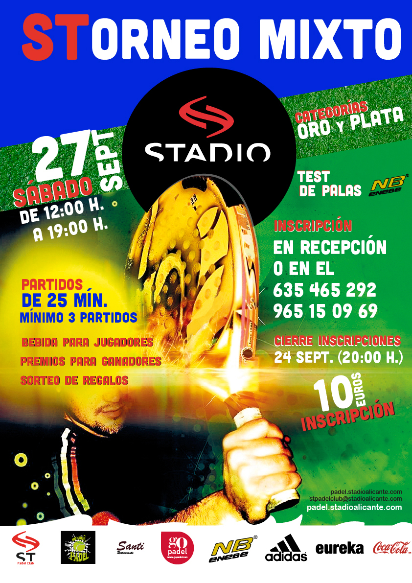 Torneo Pádel Mixto Stadio septiembre 2014