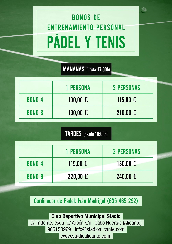 clases de padel y tenis en stadio